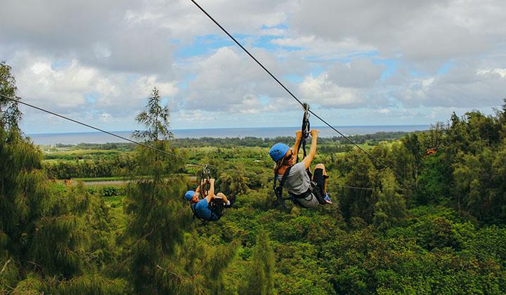 Oahu zipline tours